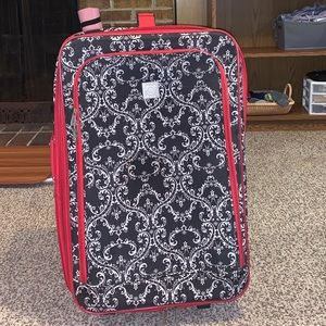 Adorable Red & Black Large Suitcase